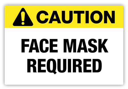 Caution – Face Mask Required Label