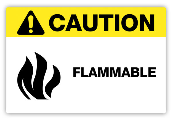 Caution – Flammable Label