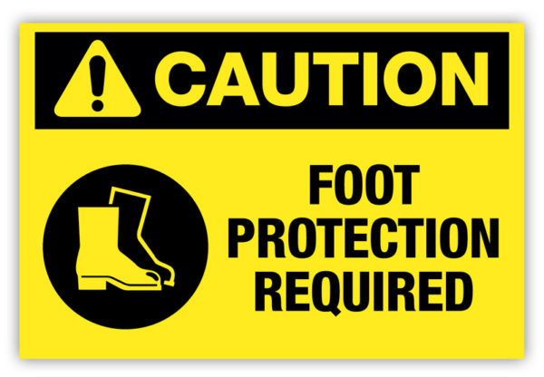 Caution – Foot Protection Required Label