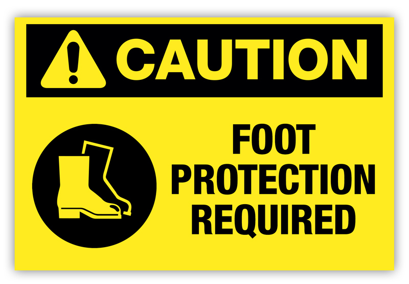 Caution Foot Protection Required Label Phs Safety