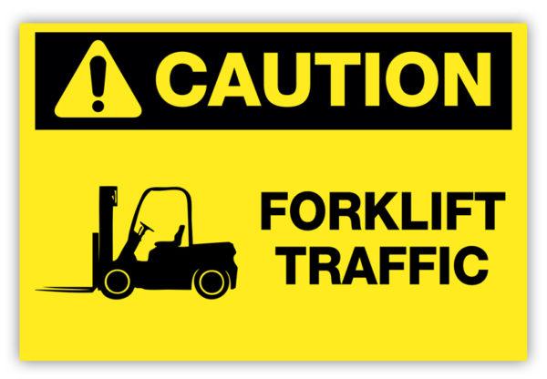Caution – Forklift Traffic Label