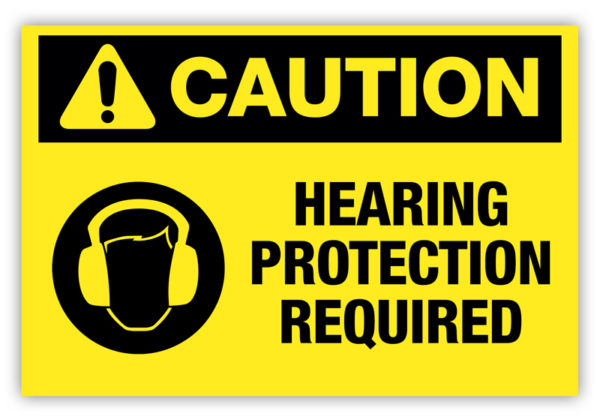 Caution – Hearing Protection Required Label Ver. 2