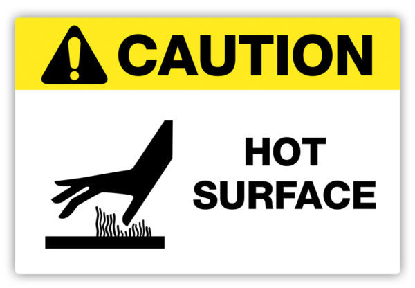 Caution – Hot Surface Label