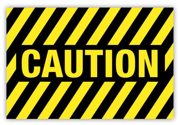 Caution Label (Striped)