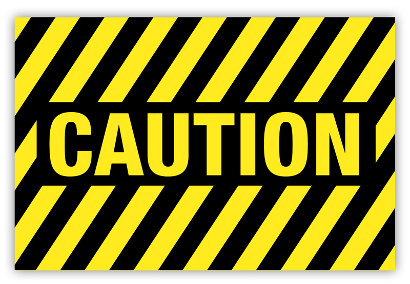 Caution Label Striped Phs Safety