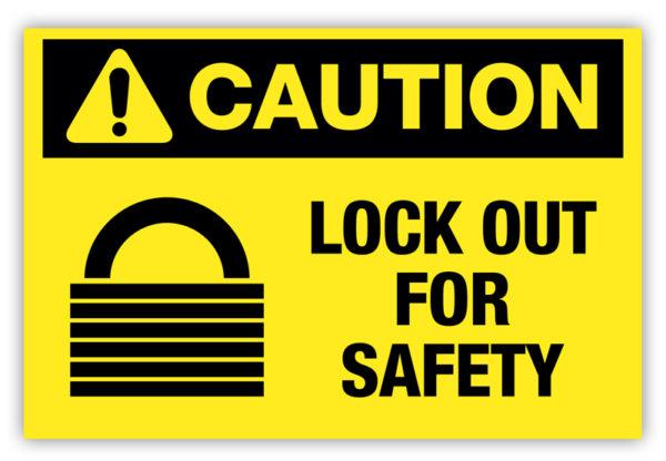 Caution – Lock Out Label
