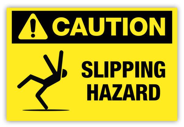 Caution – Slipping Hazard Label