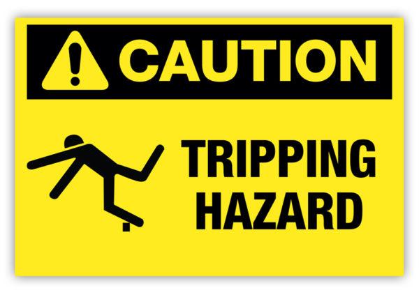 Caution – Tripping Hazard Label