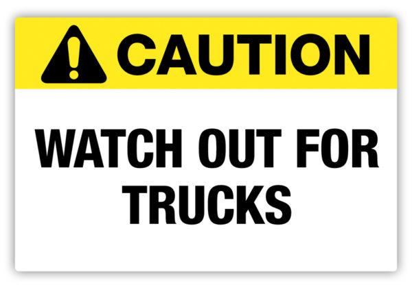 Caution – Trucks Label