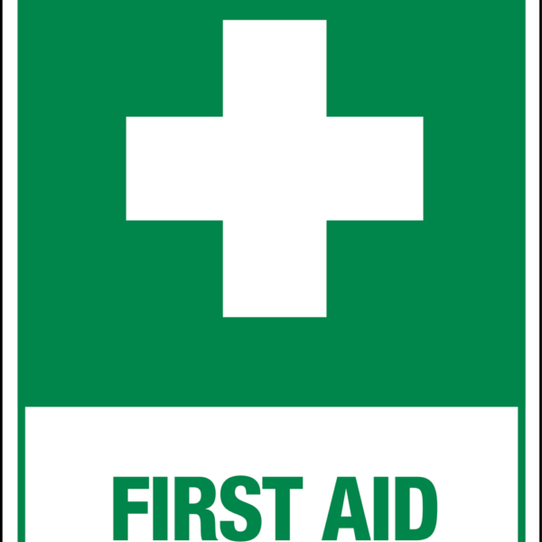 Cross First Aid Sign Green Phs Safety