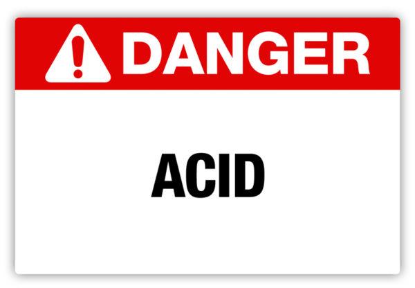 Danger – Acid Label