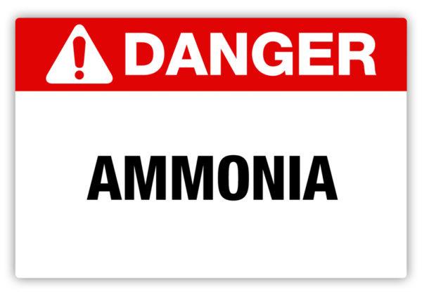 Danger – Ammonia Label