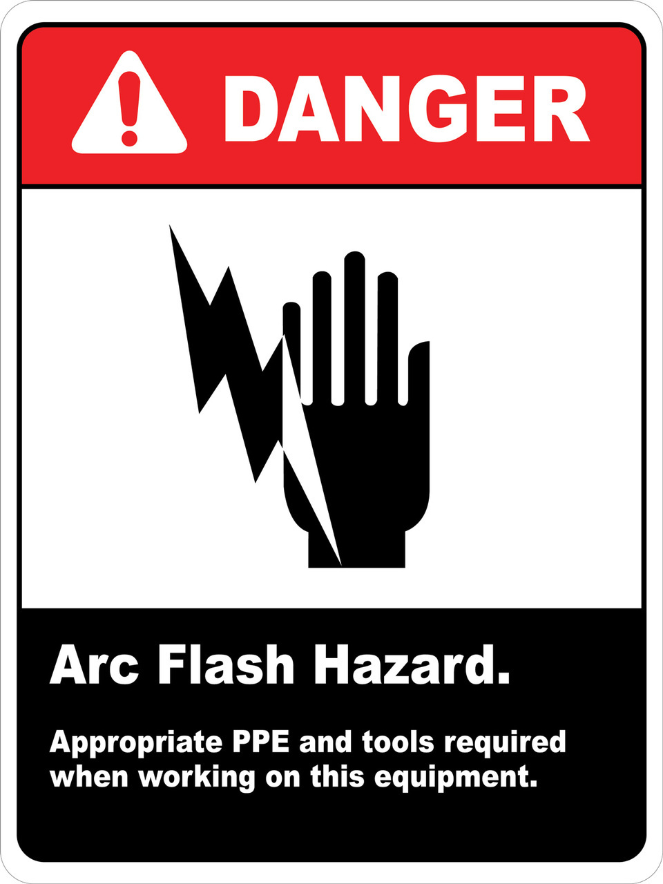 Danger Arc Flash Hazard Ppe Required Wall Sign Phs Safety