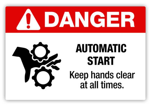 Danger – Automatic Start Label