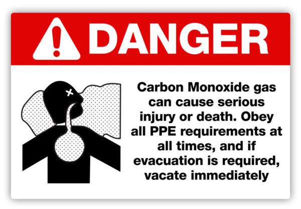 Danger – Carbon Monoxide Label