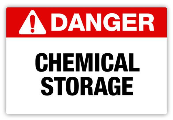 Danger – Chemical Storage Label