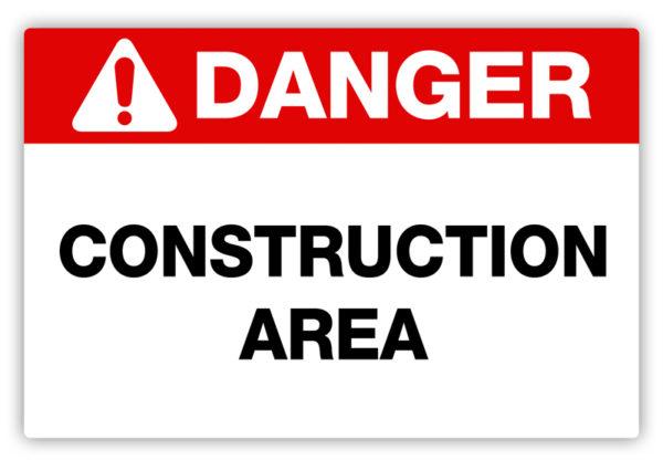 Danger – Construction Area Label