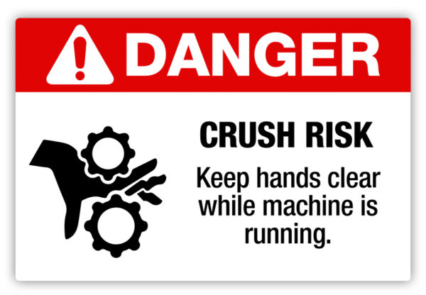 Danger – Crush Hazard Label
