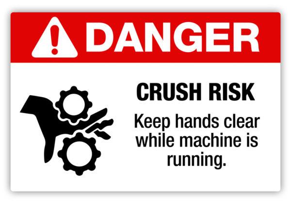 Danger – Crush Risk Label
