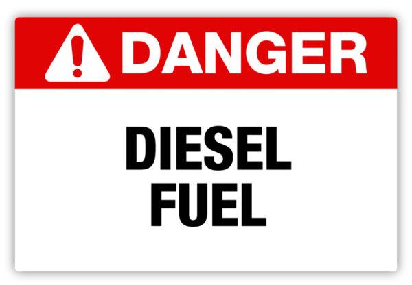 Danger – Diesel Fuel Label