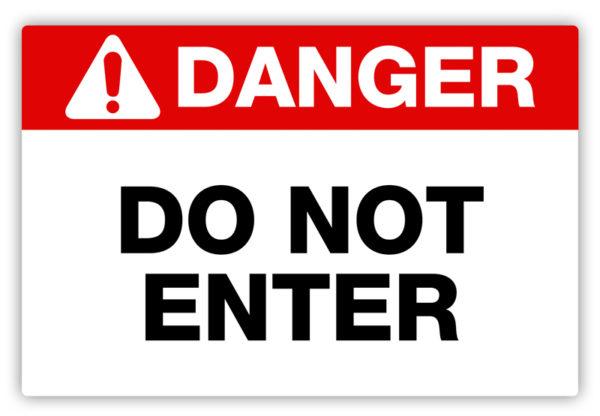 Danger – Do Not Enter Label