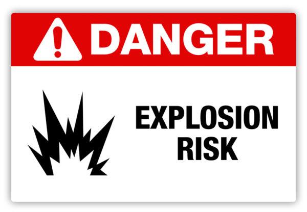 Danger – Explosion Risk Label