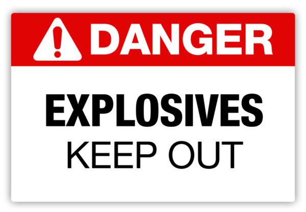 Danger – Explosives Label