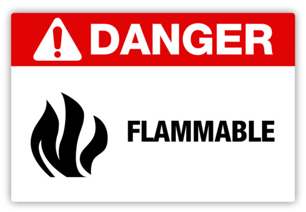 Danger – Flammable Label