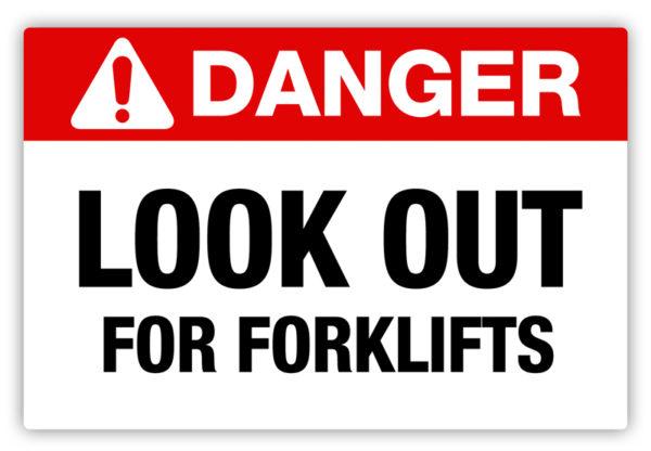 Danger – Forklifts Label