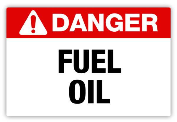 Danger – Fuel Oil Label