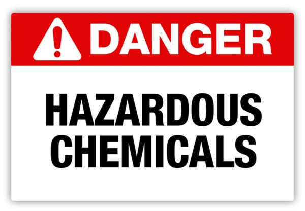 Danger – Hazardous Chemicals Label