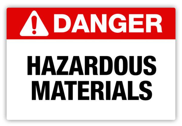 Danger – Hazardous Materials Label