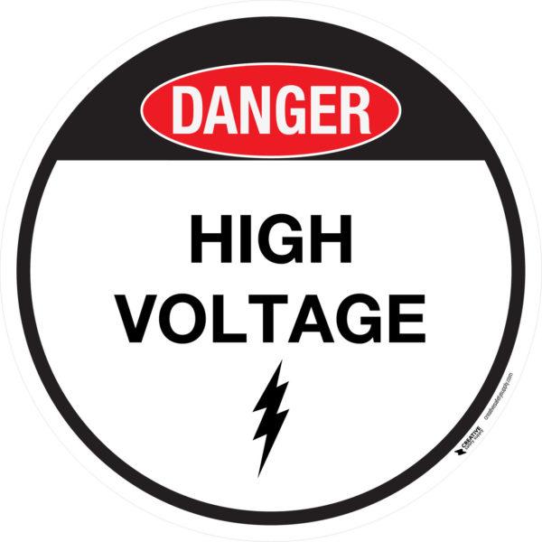 Danger – High Voltage – Floor Sign