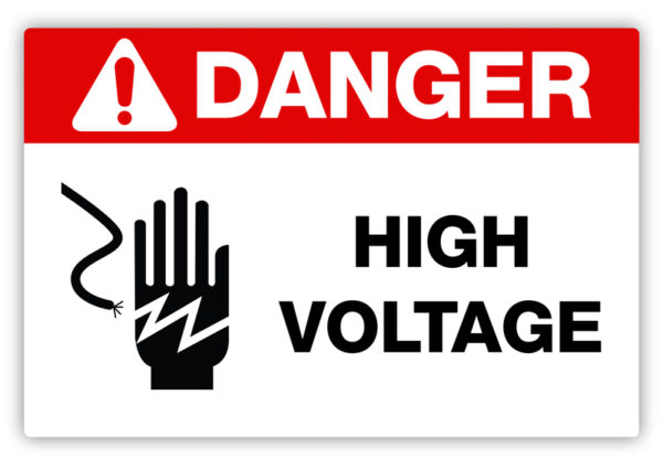Danger – High Voltage Label