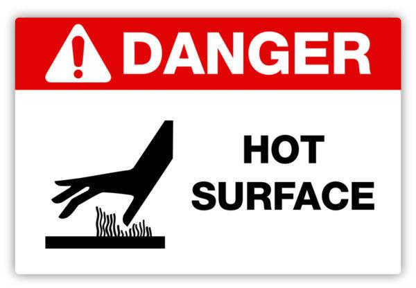 Danger – Hot Surface Label