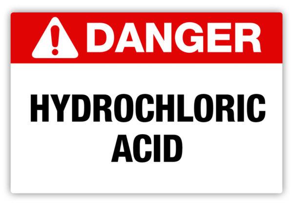 Danger – Hydrochloric Acid Label