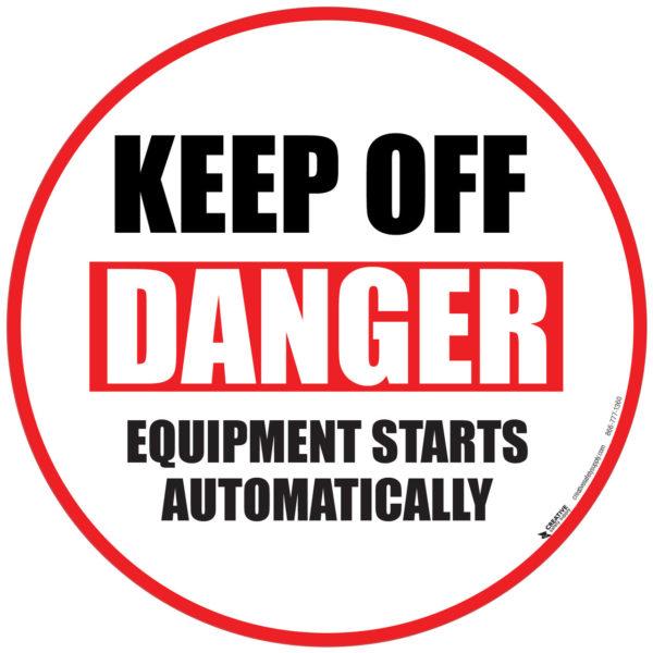 Danger Keep Off Floor Sign