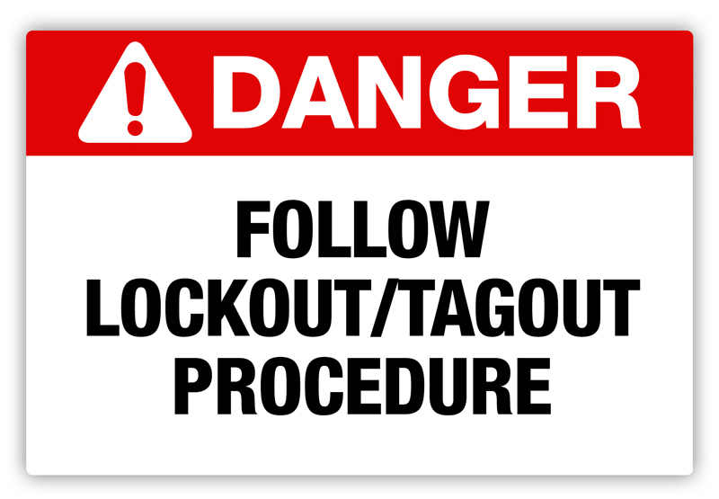 Danger Lock Out Tag Out Label Phs Safety