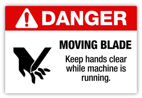 Danger – Moving Blade Label