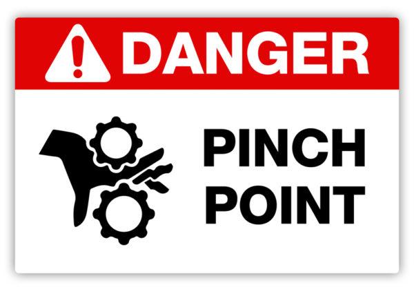 Danger – Pinch Point Label