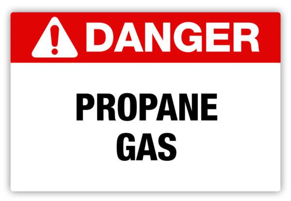 Danger – Propane Gas Label