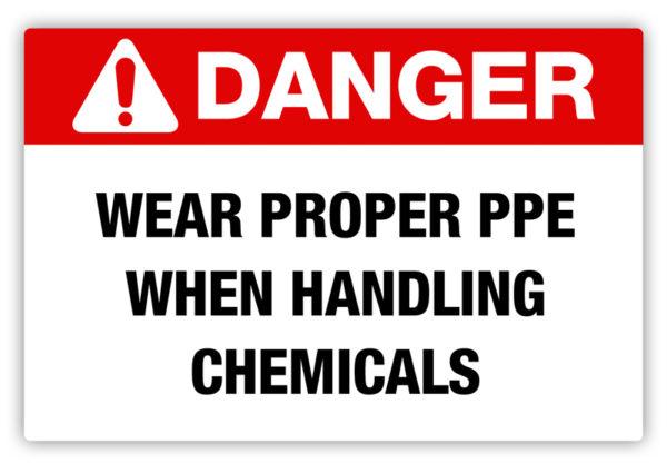 Danger – Proper PPE Label