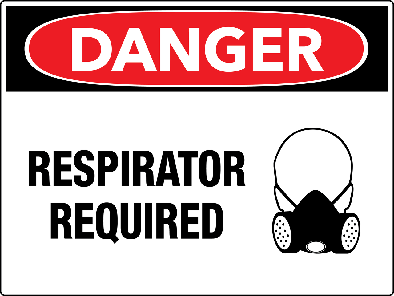 Danger Respirator Required Wall Sign - PHS Safety