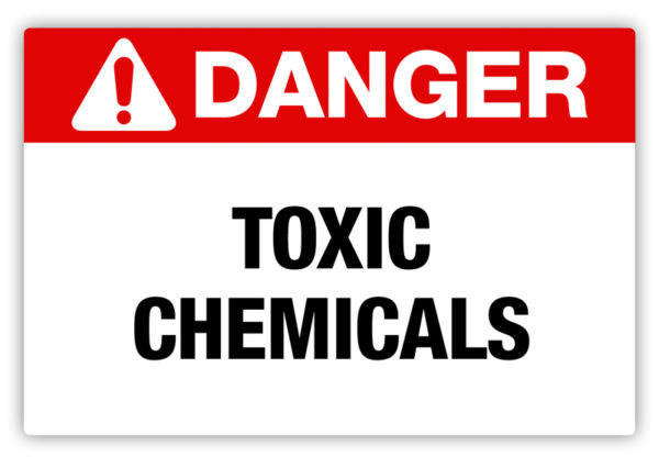 Danger – Toxic Chemicals Label