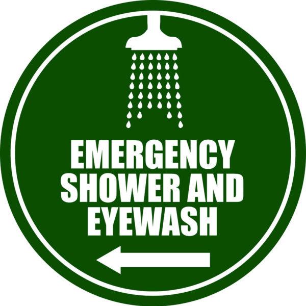 Emergency Shower/Eyewash – L Arrow