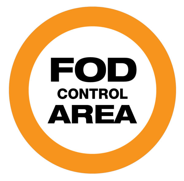 FOD Control Area Type A (Floor Sign)