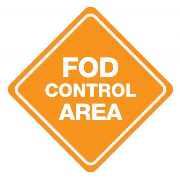 FOD Control Area Type B (Floor Sign)