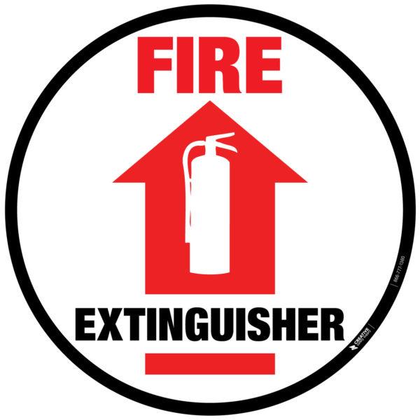 Fire Extinguisher – Floor Sign