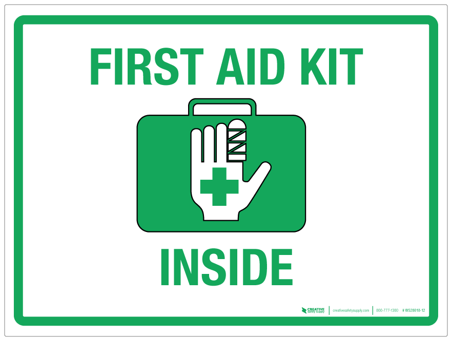 First Aid Kit Inside Wall Sign Phs Safety
