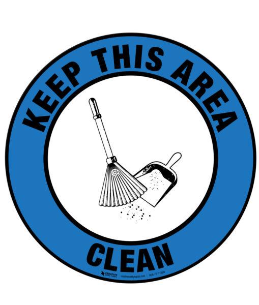 Floor Sign – Keep Area Clean